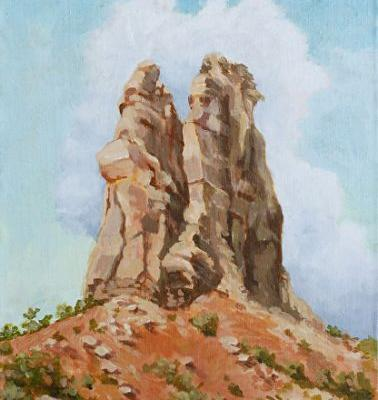 """Original Colorado Landscape Painting """"Independence Monument"""" by Colorado Artist Nancee Jean Busse, Painter of the American West"""