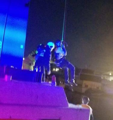 Children among 16 people stranded above water for hours on SeaWorld ride