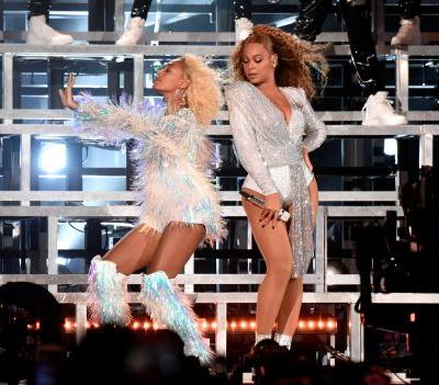 Beyoncé's 2nd Coachella Set Had J Balvin, New Costumes, And This Cute Moment Where She Fell Down Trying To Pick Up Solange