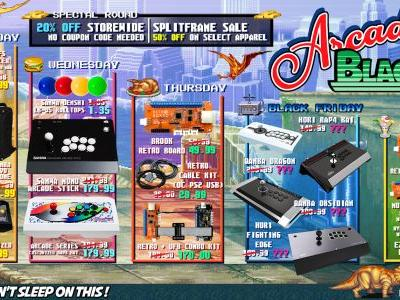 Arcade Shock offers a full week of savings in their Black Friday Week sale, November 19-25