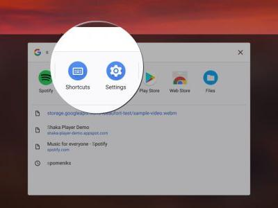Chrome OS adds access to settings menu and shortcuts through search launcher