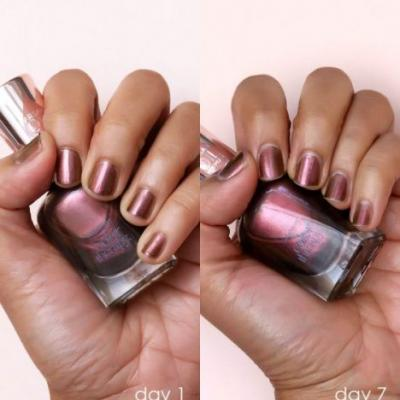 Desperately Seeking Persistent Polish: 7 Days With Sally Hansen Color Therapy Bronze Reflection