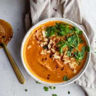 Red Pepper Sweet Potato Soup