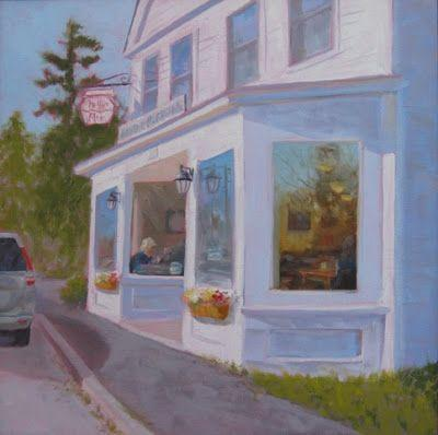 """Muffins on Main"" - 12 x 12 inches - oil on canvas"