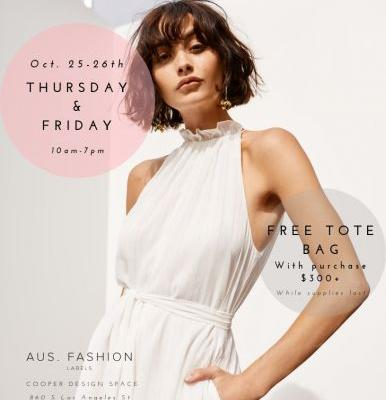 AUS. Fashion Labels Sample Sale - Oct 25th - 26th - Los Angeles