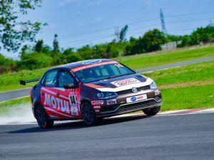 2018 VW Ameo Cup Saurav Bandyopadhyay Wins Race 1 Of Round 2 At MMRT