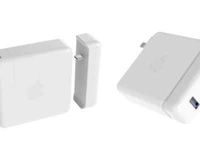 Hyper's new USB-C hubs attach directly to MacBook Pro's power adapter