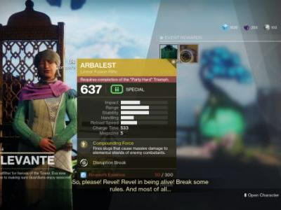 Destiny 2: how to get the Arbalest Exotic Kinetic Fusion rifle