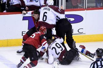 Coyotes' Rinaldo suspended 6 games for punch
