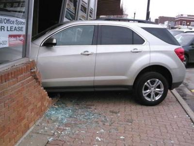 Teen taking driving test plows into exam station before making it to road