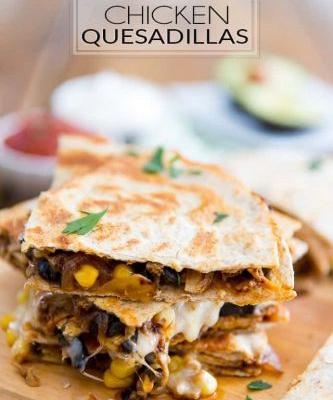 Healthier Chicken Quesadillas