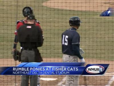 Video: Tim Tebow faces the Fisher Cats