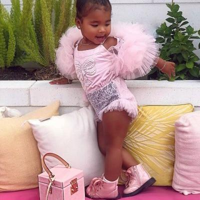 True Thompson Flexes on Us All in Adorable Head-to-Toe Pink Outfit: 'Fashion Week'