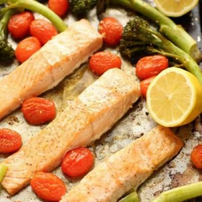 Sheet Pan Lemon Garlic Salmon