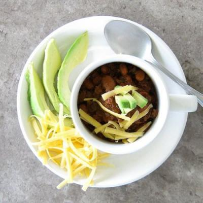 Ground Beef Chili with Beans