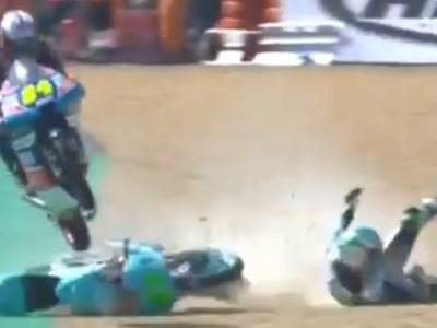 This Moto3 Racer Managed To Jump Over Another Bike And Land Perfectly