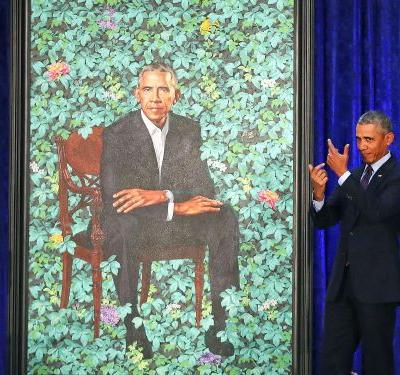 Barack Obama's presidential portrait was just unveiled - and people are having a field day with it