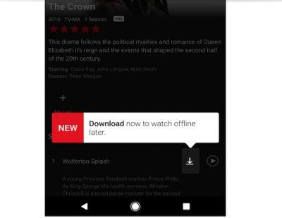 Netflix Offline Viewing Functionality Finally Available