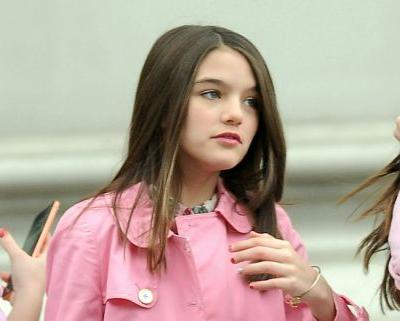 Fashionista Alert! Suri Cruise Looks So Grown Up Rocking A Pink Coat In NYC