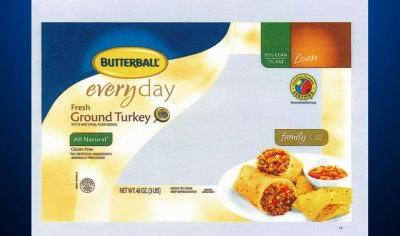 Butterball Recalling Turkey Products Due To Salmonella Concerns