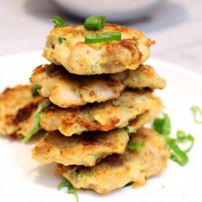 Low Carb Chicken & Shrimp Fritter