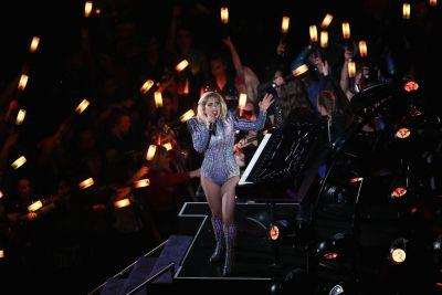 Lady Gaga opened her Super Bowl performance with a protest anthem
