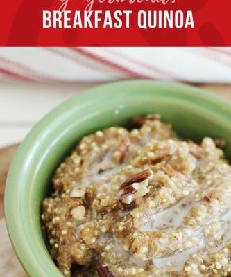 90-second Gingerbread Breakfast Quinoa