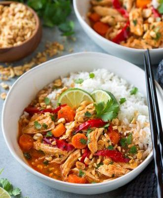 Slow Cooker Thai Chicken Curry {or Instant Pot}
