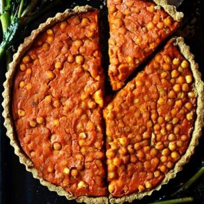 Curry Sweet Potato & Chickpea Tart