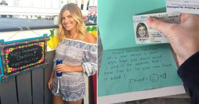 This girl had her ID returned with a hilarious thank you note a year after losing it