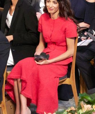 Amal Clooney Perfected Every Princess's Favorite Outfit Combo