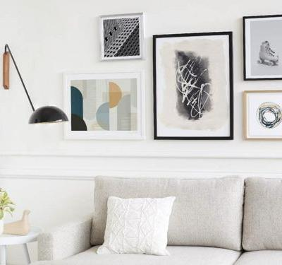 This free service lets you text a stylist to figure out what art pieces look good on your wall - and makes it easy to purchase the ones you like