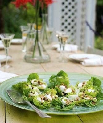 Recipe: Ruth Pretty's Cos leaves with pear, walnuts, mozzarella and honey dressing