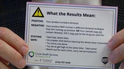 'That's gonna save lives': Test strips help drug users check for fentanyl