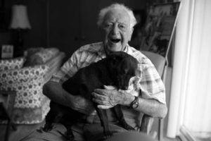 "Senior Dog Rescue Helps 104-Year-Old Man Find ""Puppy"" Love Again"