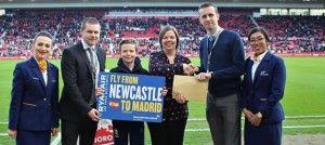 Ryanair and Middlesbrough FC celebrate new Madrid route from Newcastle Airport
