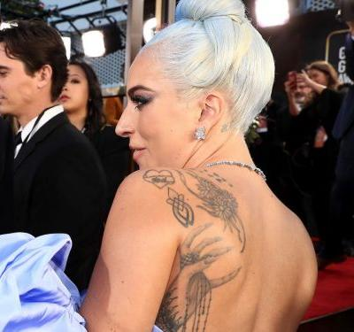 Lady Gaga's Huge Back Tattoo Was On Full Display At The Golden Globes