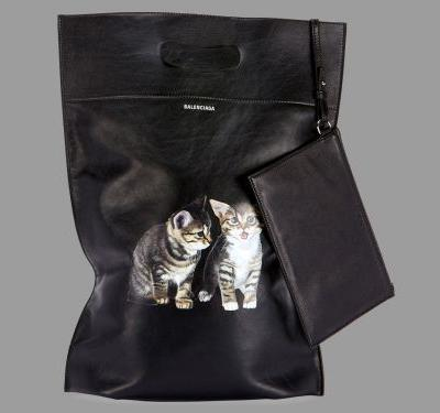 Would You Carry a $1300 Leather Plastic Bag With Kittens On It?