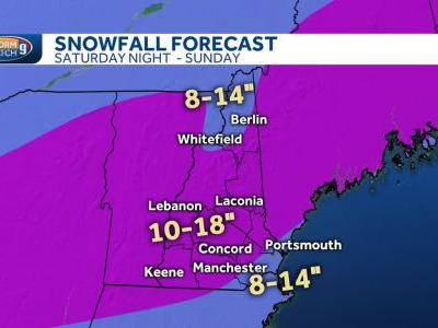 Snow to begin by Saturday evening; foot of snow possible for most of NH