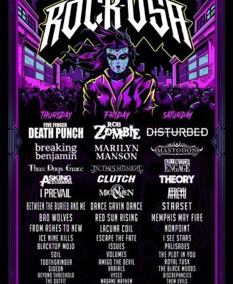 Rock USA 2019 lineup: Rob Zombie, Disturbed, FFDP, Marilyn Manson, Mastodon, and more lead Wisconsin festival