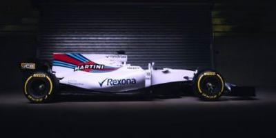 Williams' Real-Life 2017 Formula One Car Has A Giant Martini Billboard On The Back