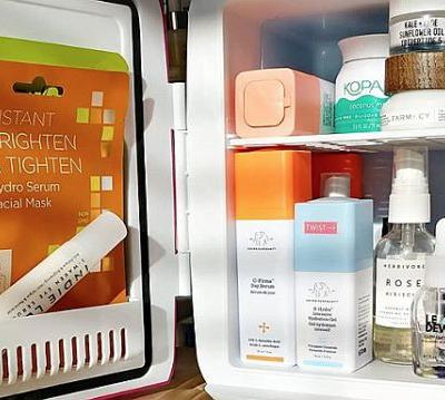 This Shelfie Boosting Mini-Fridge Is the Coolest New Skin Care Must-Have