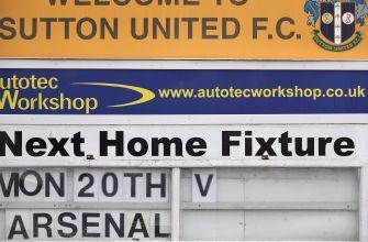 Sutton United's 280-pound goalie was eating cake during FA Cup match vs. Arsenal