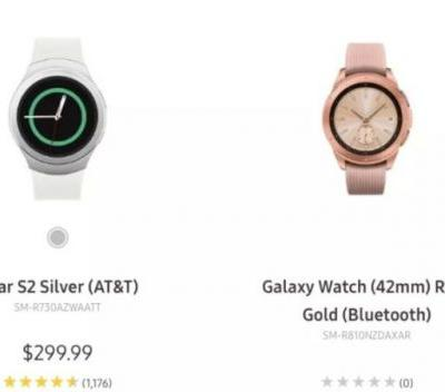 Samsung Galaxy Watch Makes An Appearance On Samsung's Own Website