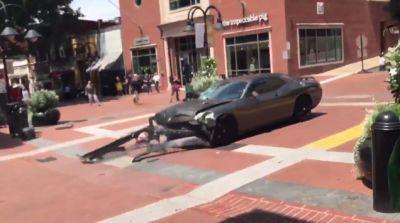 Disturbing Video Shows Dodge Challenger Plow Into Crowd Of Protesters In Charlottesville