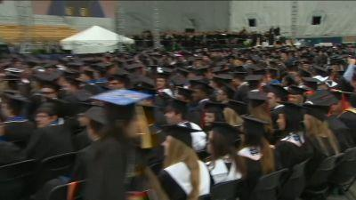 Notre Dame students walk out before Mike Pence's commencement speech