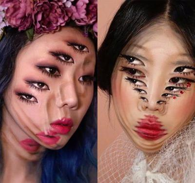 25 mind-blowing optical illusions people have created just using makeup
