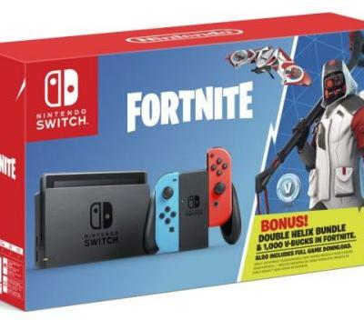 Fortnite Double Helix Switch bundle comes with V-bucks and a fun character outfit