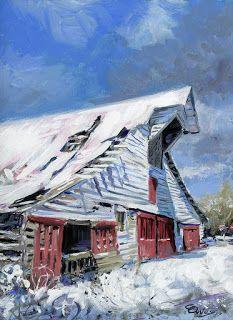 Primm Barn in the Snow