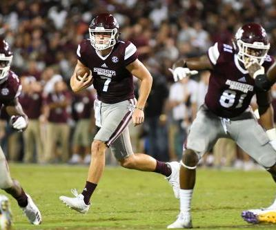 Mississippi State QB Nick Fitzgerald leaves Egg Bowl with gruesome ankle injury